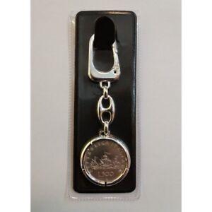Porte-Cles-avec-Monnaie-en-Argent-Livres-500-Serie-Caravelle-Diametre-29-5