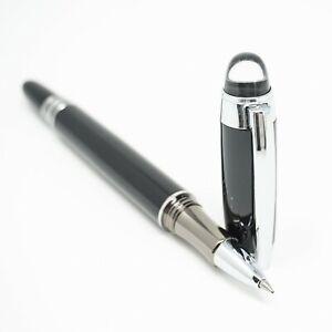 Baoer-79-Deluxe-Black-Crystal-Hat-Rollerball-Pen-Chrome-Trim-0-7mm-UK-SOLD