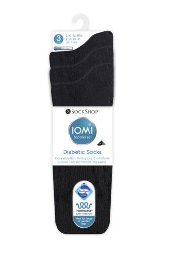 1 Pair Ladies IOMI SockShop Extra Wide Diabetic Socks Swollen Legs 8 Variations