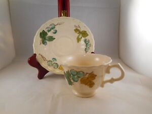 Vintage Tea Coffee Cup /& Saucer Metlox Vernonware Vineyard Pattern Grapes