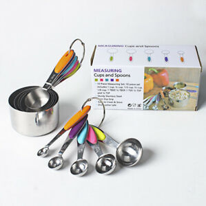 Measuring-Cups-and-Spoons-10pcs-Set-Stainless-Steel-Baking-Teaspoon-Kitchen-Tool