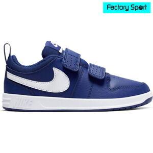 cuero Negar Perímetro  Nike Pico 5 PSV azul blanco zapatillas deportivas moda casual para niño |  eBay