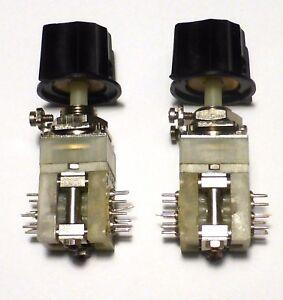 2-mini-commutateurs-2x8-positions-contacts-argentes-avec-leur-bouton-NOS-NIB-USA