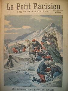 ALGERIE-PIC-FERUKA-MISSION-GEODESIQUE-BLOQUeE-JOURNAL-LE-PETIT-PARISIEN-1908
