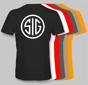 SIG SAUER FIREARMS Retro T-shirt 50/50 Cotton Blend rifle pistol gun