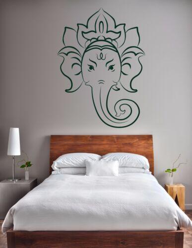 Ganesh Wall Sticker Lord Ganapati Head Vinyl Hindu God Decal Stencil Art Gift