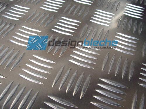 Strukturblech Tränenblech Alu 1250x1250x2,5//4mm QUINTETT AlMg3 Leicht Metall