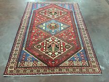 "On Sale Semi Antique Hand Knotted Persian Ferdos Geometric Rug  5x7,4'7""x6'11"""