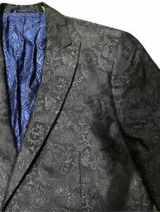 40R-Robert-Graham-100-Wool-Paisley-Blazer-Jacket-Size-575-retail-Excellent