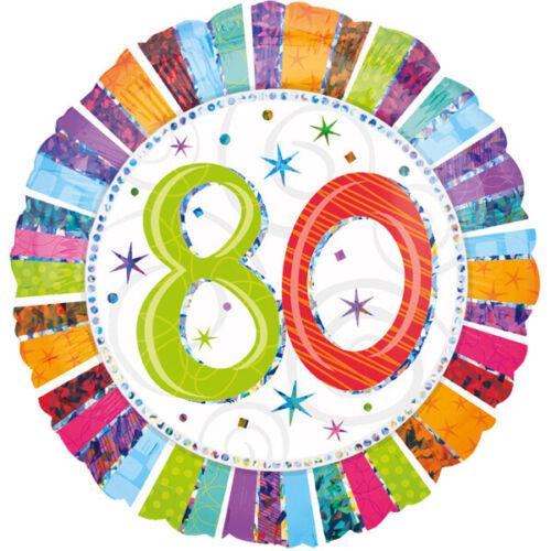 Folienballon globo cumpleaños feliz cumpleaños edad 80 años 45 cm editarlm