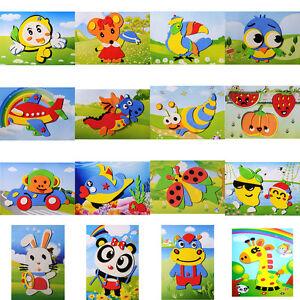 2x-DIY-Design-Cartoon-Tier-3D-EVA-Schaum-Aufkleber-Puzzle-Spielzeug-fuer-KindePdd