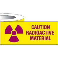 Label Tape Caution Radioactive Material 1w X 500l 1 Roll on sale