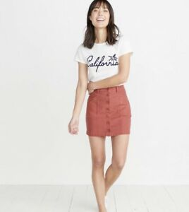 5e8aaee2cd7d2 Details about Marine Layer Skirt Avery Mini Skirt brick Red Women Size 10  NWT