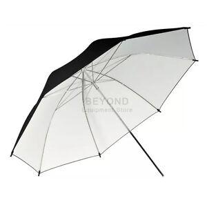 "40"" Black White Reflective Umbrella For Photography Light Studio Lighting Kit"