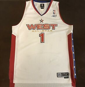 Details about Rare Vintage Reebok NBA 2005 West All Star Houston Rockets Tracy McGrady Jersey