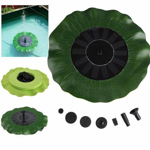 Solarpumpe Mit Akku Springbrunnen Garten Teich Brunnen Teichpumpe 1.4W DO