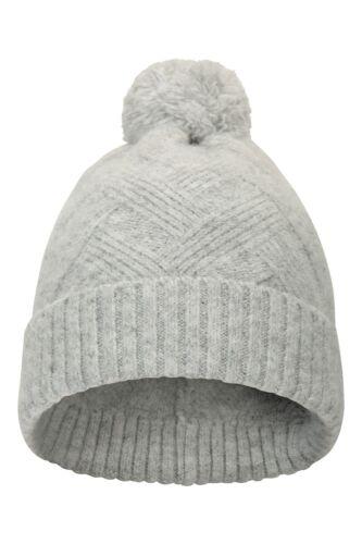 Mountain Warehouse Melange Damen Kreuzstrick-Beanie kuschelige und warme