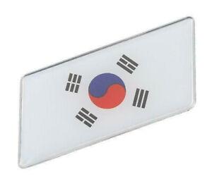 Aufkleber-Korea-3D-Auf-Kleber-Schriftzug-Flagge-Metall-selbstklebend