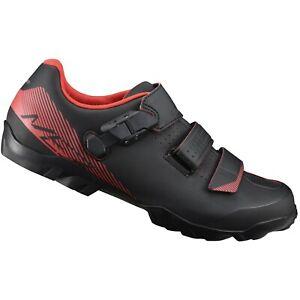 Shimano-SH-ME3-WIDE-ATB-Mountain-bike-xc-CX-cycling-shoe-RED-BLACK