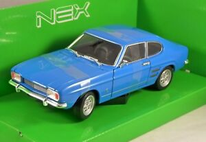 1969-FORD-CAPRI-Mk1-in-Blue-1-24-scale-model-by-WELLY