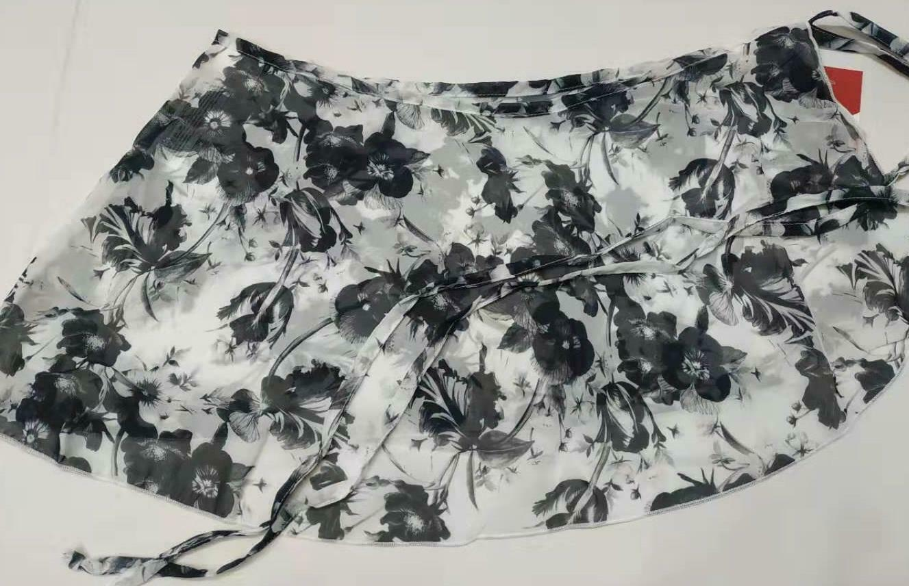 NEW SEQUIN FOIL DANCE Skate Circle Skirt attached trunks Black Ch//ladies Showy