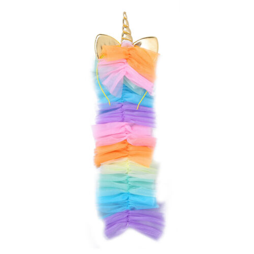 US Kid Girl Princess Fancy Dress Rainbow Tutu Skirt Costume Party Cosplay Outfit