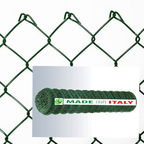 RETE METALLICA PLASTIFICATA PER RECINZIONE  MAGLIA SCIOLTA  50X50 H.175 F.2.5 MM