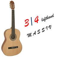 Konzertgitarre-Massiv 3/4-Jose Ribera-Modell 813LINKS hochglanz-D,Addario Saiten