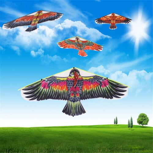 1PC Flat Eagle Bird Kite Children Flying Bird Kites Outdoor Garden Toy P HF