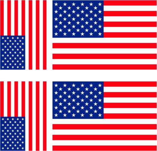 100x6mm drapeau USA + 3ex 60x36mm 6 Stickers autocollant Vinyl 3ex