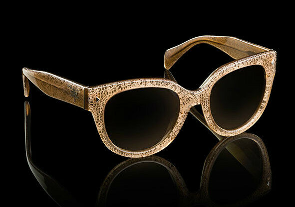 48c1896fb5fa RARE Authentic PRADA Cat Eye Lace Sand Beige Sunglasses Spr 17o Jaw 6s1 17os