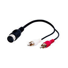 Goobay Adapter Stecker 5 pol. DIN-Kupplung > 2 x Cinchstecker
