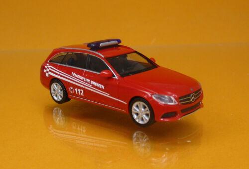 Herpa 093583 Mercedes-Benz C Klasse T Modell Feuerwehr Bremen Scale 1 87 NEU OVP