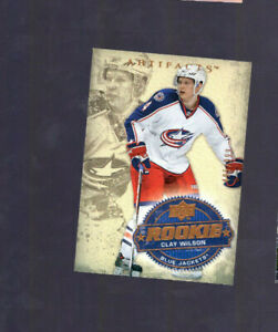 2008-09-CLAY-WILSON-UD-ARTIFACTS-ROOKIE-Card-256-Columbus-BLUE-JACKETS-495-999