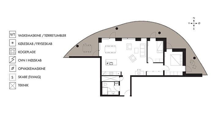Fantastisk 3 værelses lejlighed med stor altan