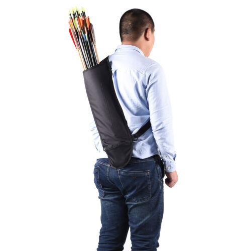 Large Capacity Hunting Archery Back Quiver Bow Arrow Holder w// Shoulder Belt