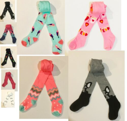 Baby Girls Tights Socks Leg Warmers Colours Patterns 9-12-18-24-36 M 2-3-4Y