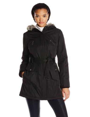 Trim W Coat Faux Lining Black Fur Women's amp; Nwot 887219336492 Large Kensie Quilt Bonded zqtxH