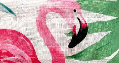 "Pink Flamingo Boca Breeze Tier Curtains and Valance Set 36/"" Tropical Summer"