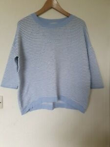 Phase-Eight-Top-Jumper-en-relieve-a-rayas-Relaxed-Fit-Talla-M-12-14