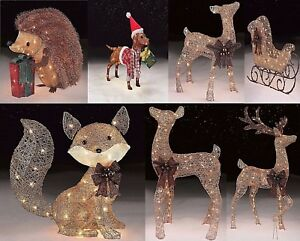 Image Is Loading Christmas Outdoor Decorations Led Lights Yard Cool Vintage