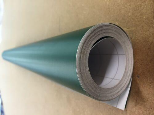 5M Roll Matt Sticky Back vinyl cupboard covering crafts forest green 610mm M2013