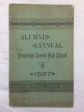 Very RARE 1887 Alumni Annual, Pittsburgh Central High School, local ads, illus