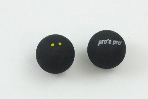 * NEU*2x Pro/'s Pro Squash Ball 2 Yellow Dots Yellow Squash very slowly very slow