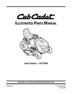 cub cadet parts manual model no ltx 1040 ebay rh ebay com 2009 cub cadet ltx 1040 owners manual cub cadet model ltx 1040 owners manual