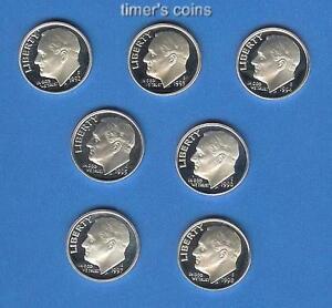 10 Gem Proof Dime Set 2000 2001 through 2008 2009 Proof Dimes