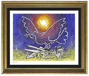 Pablo-Picasso-Signed-Hand-Numbered-Ltd-Ed-034-Dove-of-Peace-034-Litho-Print-unframed