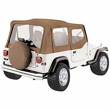 Rampage Complete Soft Top With Frame Fits 87 95 Jeep Wrangler Yj 68117 Spice Denim Fits 1994 Jeep Wrangler