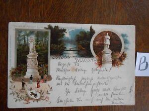 Carte Postale Vue Carte Berlin Lithographie-afficher Le Titre D'origine Laissons Nos Produits Aller Au Monde
