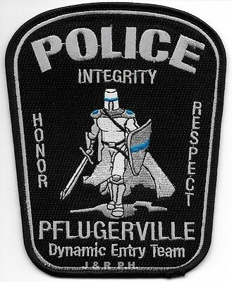 """fire shoulder police patch Pflugerville  Dynamic Entry Team 4/"""" x 5/"""" Texas"""